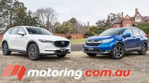 australian mazda motors honda cr v v mazda cx 5 2017 comparison motoring com au youtube