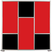 contractors wardrobe 75 5 8 in x 75 3 8 in udivide red and black