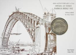 medal 60th anniversary of the opening of sydney harbour bridge