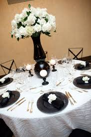 amazing black and white flower decorations contemporary wedding