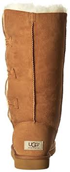 womens ugg triplet boot ugg s bailey button triplet boot chestnut size 8 great