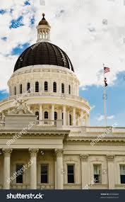 Sacramento City Flag California State Capitol Building Sacramento Done Stock Photo