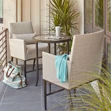 Patio Furniture Bar Height Set - hampton bay aria 3 piece balcony patio bistro set fcs80223ast