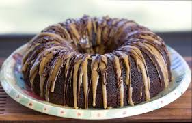 caramel drizzle chocolate bundt cake cookie madness