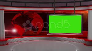 Green Tv News Tv Studio Set 37 Virtual Green Screen Background Loop