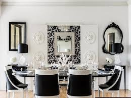 magnificent black and white dining room interior apartment for