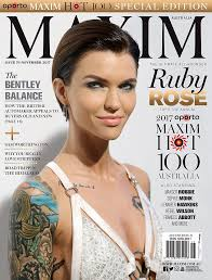 Rose 31 Ruby Rose Beats Sophie Monk On Maxim U0027s 100 Daily Mail Online