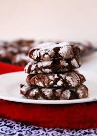 christmas chocolate peppermint crinkle cookies gf vegan peanut