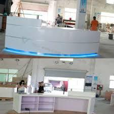 Wholesale Reception Desk China Wholesale Led Front Office Counter Design Luxury Corian
