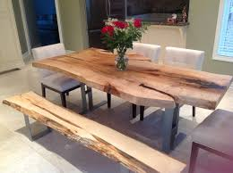 wooden dining room tables marvelous live edge dining table single slab harvest on wooden