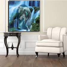 online shop waterfall wolf 5d diamond diy painting kit home decor