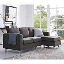 Best Deals On Sectional Sofas Small Spaces Grey Microfiber Configurable Sectional Sofa