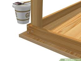 How To Build Wood Shelf Supports by The Easiest Way To Make A Table Wikihow
