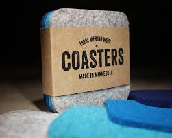 cool coasters square felt coasters by dundry hill blues and