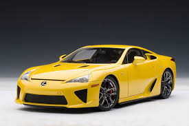 lexus yellow zt u0027s dream garage autoart lexus lfa in yellow