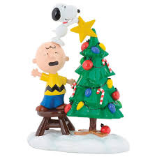 snoopy tree peanuts brown and snoopy tree topper figurine figurines