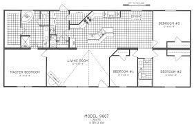 5 Bedroom Ranch House Plans 5 Bedroom Mobile Home Floor Plans Brilliant Double Wide Corglife