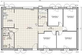 plan de maison 120m2 4 chambres plan de maison 4 chambres plain pied gratuit 11 plan maison plain