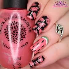 nail art hpb presents watermelon nails polish and paws