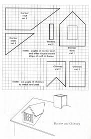 House Blueprint by Blueprint Template For Making A Dormer And Chimney To Add To Any