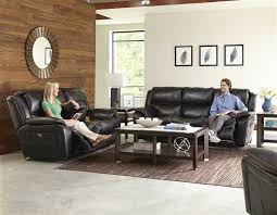 Black Fabric Reclining Sofa by Beckett 2 Piece Power Reclining Sofa Set In Black Color Fabric By