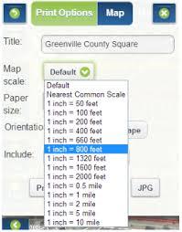 printable area change maps