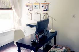 Best Computer Desk Setup Matchstick Blinds In Home Office Farmhouse With Cork Board Wall