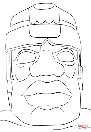 ancient olmec head coloring page free printable coloring pages