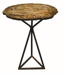 petrified wood end table amazing petrified wood end table from cliff young inside attractive