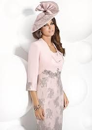 light pink knee length dress cabotine knee length dress and jacket 4993198 mother of the bride