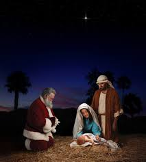 santa and baby jesus picture santa clause vs baby jesus esoteric bunker