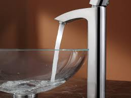 bathroom vanity amazing vessel sink faucet with glass round sink
