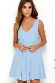 light blue dress pretty light blue dress skater dress backless dress 75 00