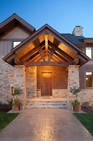 Timber Patio Designs Front Porch Entrance Designs Entry Rustic With K2 Blend
