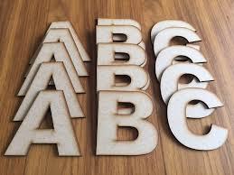wooden mdf letters arial font 5cm 10cm 15cm 20cm 25cm high craft