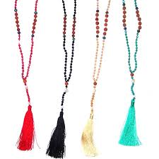 beaded necklace with tassel images Sparkly bead tassel necklace nz silver surfers jpg