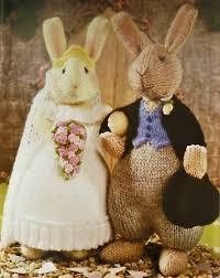 Wedding Gift Knitting Patterns Alan Dart Knitting Patterns Bridal Bunnies Toys Knitting Pattern