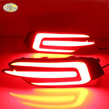 Honda Warning Lights Aliexpress Com Buy Sncn Led Rear Bumper Reflectors Lamp For