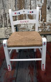custom listing for olivia a pair of personalised children s rush seat chairs