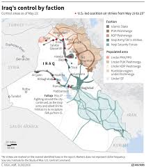 Map Iraq This Map Shows Which Factions Control Iraq Business Insider