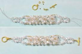 bead flower bracelet images Bead bracelet designs to make how to make a beaded flower jpg