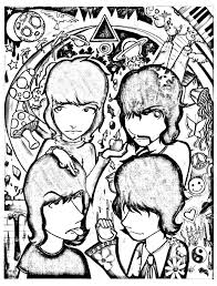 pink floyd by electricsorbet psychedelic coloring pages for
