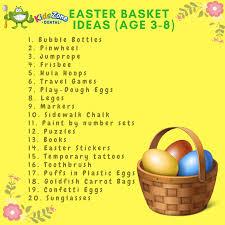 ideas for easter baskets easter basket ideas for kids kids zone dental