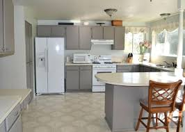 Kitchen Grey Cabinets Grey Cabinets With White Countertops Gray And White And Marble