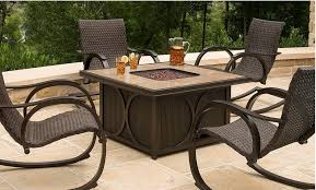 Firepit Chairs Gas Pit Table And Chairs Designs Ideas And Decors