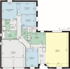 plan maison contemporaine plain pied 4 chambres plan maison plain pied en l avec garage