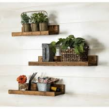 Barnwood Wall Shelves Rustic Shelves You U0027ll Love Wayfair