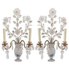 Crystal Candle Sconces Rock Crystal Candle Holders 29 For Sale At 1stdibs