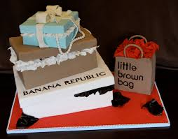 birthday cake shop shopaholic born to shop theme cakes and cupcakes cakes and