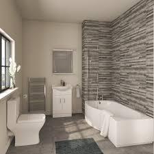 shower bath suites heat plumb modern complete bathroom furniture suite with b shaped bath 1700mm left handed